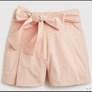 🎉New J. Crew high-waisted cotton tie-front shorts